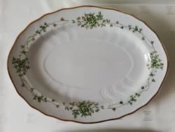 Gyönyörű gazdag Erika mintás hollóházi porcelán kínáló tál vitrin állapotú ovális