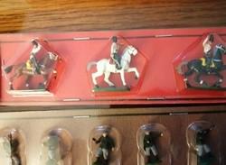 Régi miniatűr fém vasútimodell,makett figurák