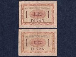 2 db Szerb-Horvát-Szlovén Királyság 1 dínár 1919 / id 6581/