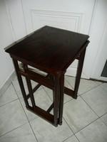 """2 db egymásba rakható J&J Kohn """"Thonet"""" asztalka teljesen stabil állapot egyben eladó"""