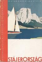 STÁJERORSZÁG képes útikönyv, sok reklámmal 1930 körül