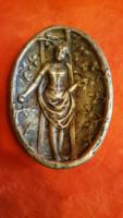 Szecessziós tűzaranyozott bronz tálka