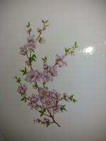 Zsolnay lila barackvirágos pecsenyéstál