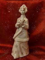 Szovjet ZHK Polonne hókirálynő porcelán figura 26 cm