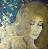 A Nő - Lepkékkel álmodom című festmény