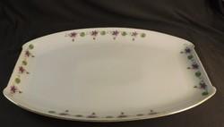 Hüttl Tivadar szecessziós húsos tál tányér szögletes, ibolya mintás  ,ritka !!!!!!!!!!!!!!!!!
