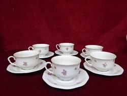 MCP antik csehszlovák minőségi porcelán teáscsésze + alátét. Vitrinben állt.