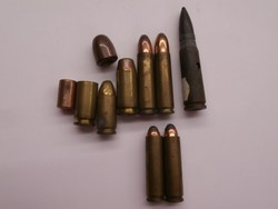 Hatástalanított lőszer csomag