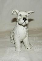 Kutya figura  Cseh  porcelán
