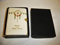 Antik német nyelvű csatos imakönyv dobozában 1932.