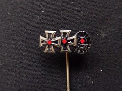 II.vh Német Birodalmi Vaskereszt 1.o + sebesülési miniatűr Iron cross / Eisernes Kreuz miniatur