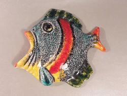 Mid century dizájn  falidísz  kerámia hal jelzett Italy