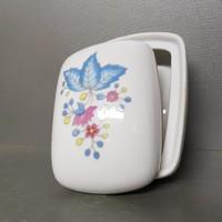 Virágmintás Hollóházi porcelán bonbonier (1075)