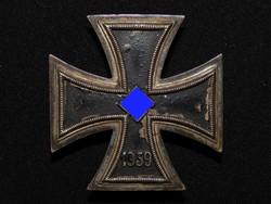 Német 2. VH Vaskereszt Iron Cross / Eisernes Kreuz EK1 - Assmann & Söhne nem mágneses darab