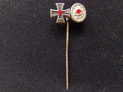 II.vh Német Birodalmi Vaskereszt 2.o + sebesülési miniatűr Iron cross / Eisernes Kreuz miniatur