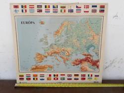 Régi retró HM által kiadott Európa 3D térkép