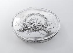 Csodás ezüst szelence, Hanau ~1880!