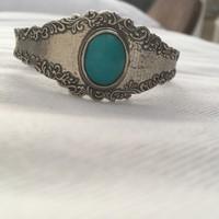 Izraeli ezüst karkötô türkizzel (Or Paz)