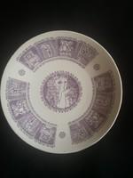 Zsolnay dísz tányér