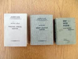 Magyar - Angol, vagy Német - Magyar szótár, útiszótár