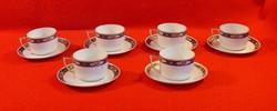 6 db MZ Altrolau CM-R cseh porcelán teáscsésze+alj, egy csészealj más színű