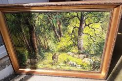 Vègh Gyula olaj- vàszon erdőrèszlet 112 x 82 cm