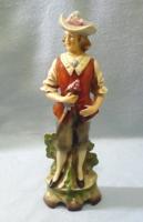 Német nagyon régi  barokk porcelán fiú