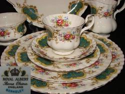 RITKA!  12 szem. étkészlet Royal Albert Angol Berkelay leveses csészékkel+12 szem.teás/kávés/sütis
