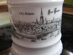 Hannover látképpel retro porcelán korsó