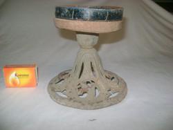 Antik öntöttvas petróleum lámpa talp