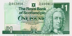 Skócia 1 Font Sterling 2001 UNC