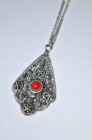 Ezüst nyaklánc csoda szép áttört mintás ezüst medállal