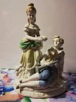 Nagyméretű, barokk, német porcelánpár