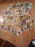Több mint 60db szentkép 3db náci gyászjelentéssel