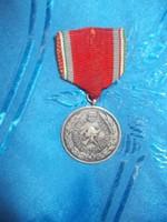 Régi kitüntetés 15 éves önkéntes tűzoltó szolgálatért 1958