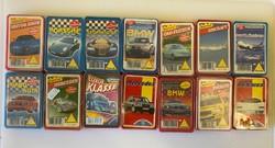 Autó kvartett és egyéb kártya játék 23 doboz egyben