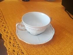 Zsolnay  barokk tollazott leveses csésze alátéttel