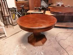 Tölgy körasztal etkezőasztal biedermeier stílusú