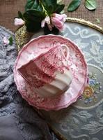 Antik fajansz Copeland csokis csésze Mimosa dekorral