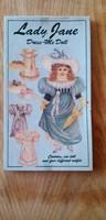 Nagyméretű Angol öltöztető baba - Lady Jane - 35 cm.