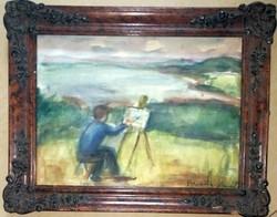 Bernáth Aurél: Festő a szabadban