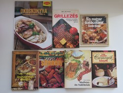Szakácskönyvek, 7 darab együtt, kedvező áron