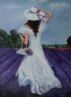 A Nő- A levendulásban című festmény