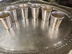 Ezüst vodkás poharak 6 db