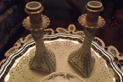 Hollóházi Barok gyertyatartó  pár