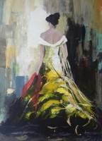 A Nő - Piros sállal című festmény