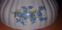 Régi Zsolnay virág mintás porcelán tál,komatál,pörköltes tál.6000.-Ft
