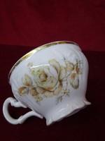 BERDADOTTE cseh porcelán minőségi teáscsésze, rózsa mintával.
