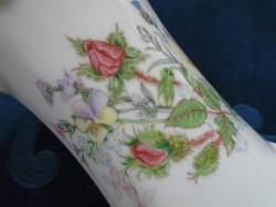 AYNSLEY antik angol dombormintás váza Wild Tudor(Vadvirágos Tudor) mintával