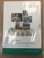 Anglia - Angol teljes érmesor, 13 db, 2020 BUNC, Royal Mint csomagolásban